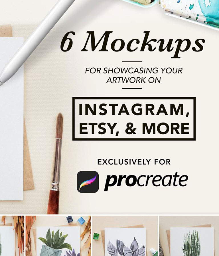 Procreate Artwork Mockups