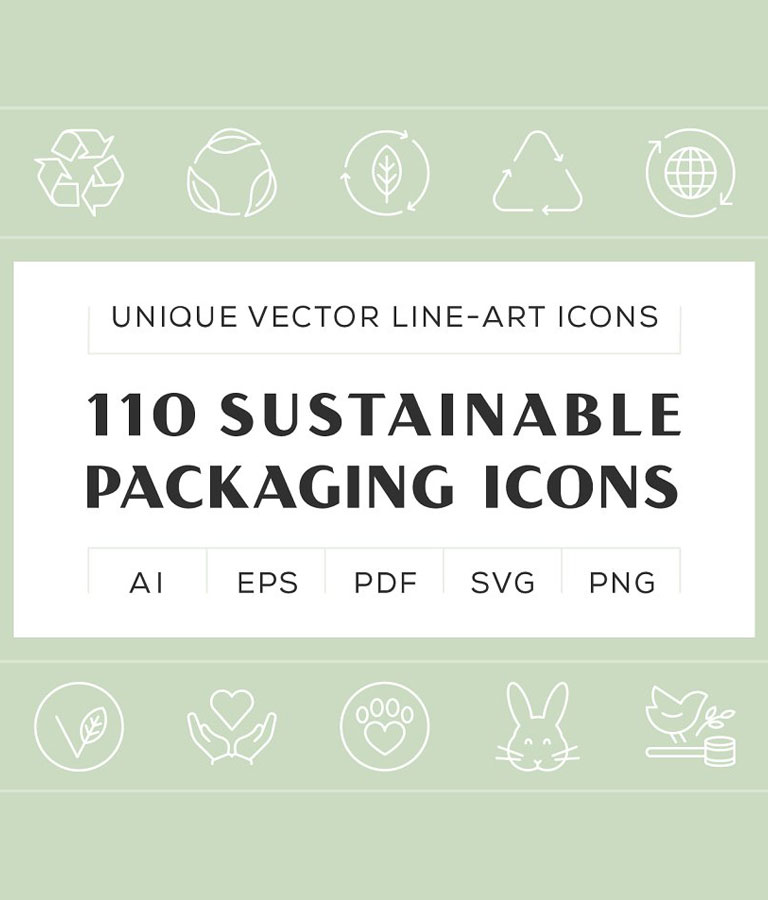 Sustainable Packaging Icons