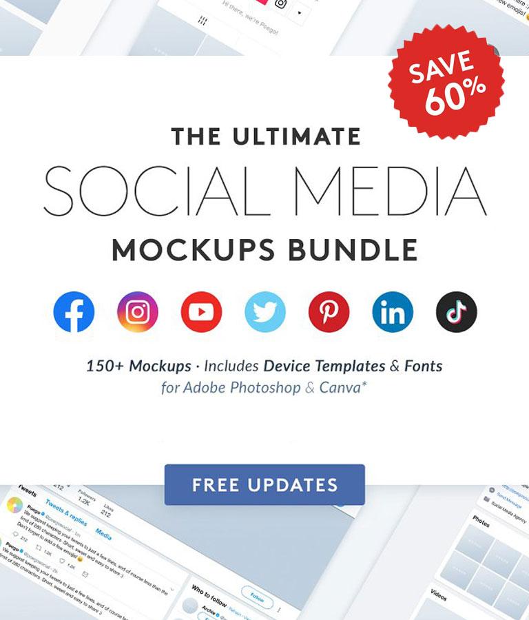 Social Media Mockups Bundle