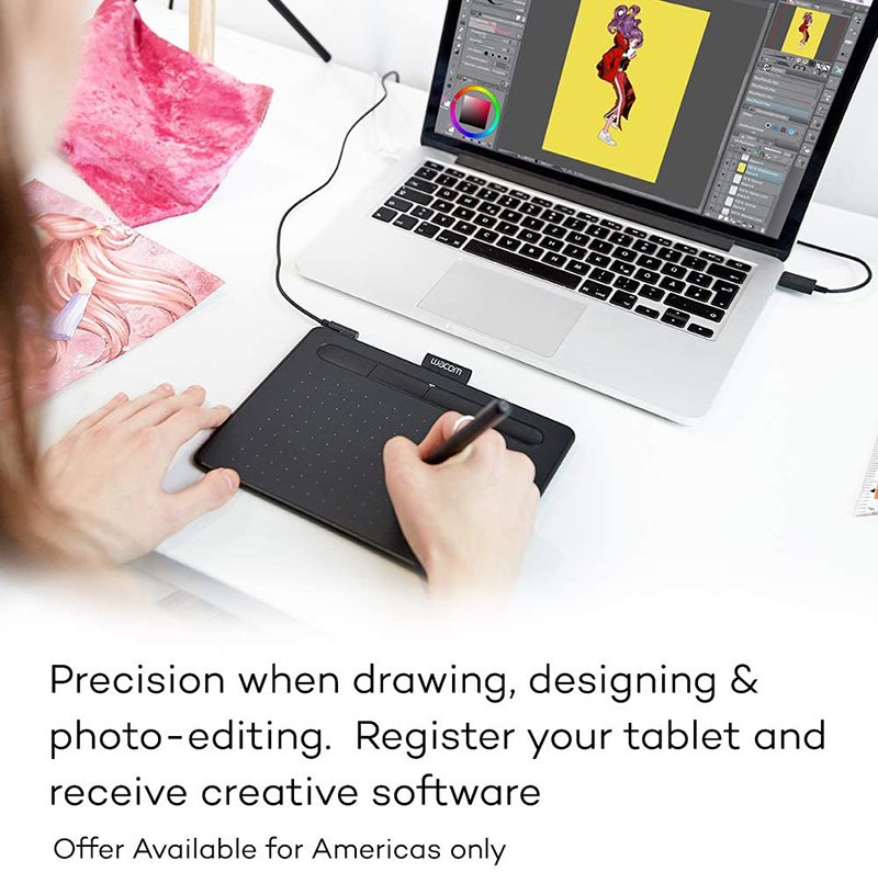Wacom CTL4100 Intuos Graphics Drawing Tablet