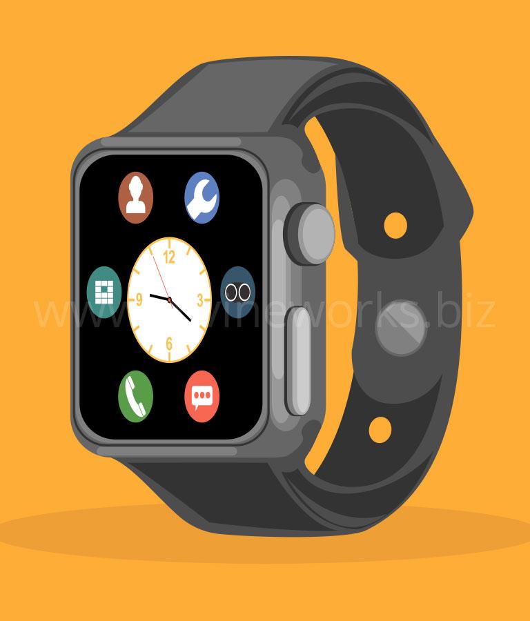 Apple Smartwatch Vector Art