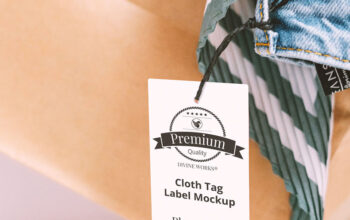 Download Free Clothing Tag Mockup by Divine Works