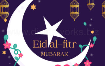 Download Free Eid-ul-Fitr-Mubarak Vector by Divine Works