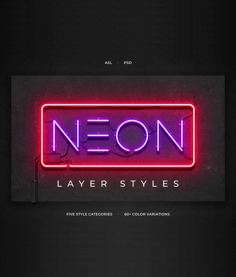 Neon Layer Styles