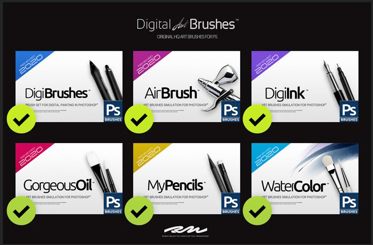 RM Digital Art Brushes EE for PS