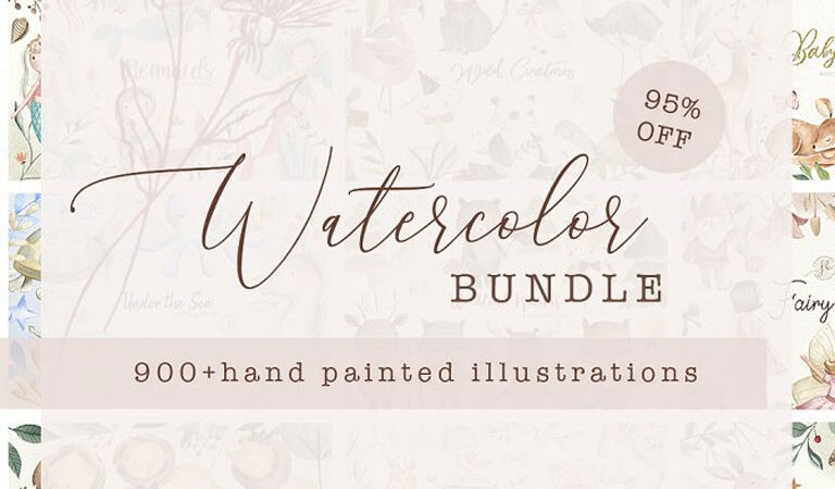 SALE! Watercolor Bundle