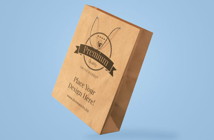 Download Free Shopping Bag Mockup by Divine Works