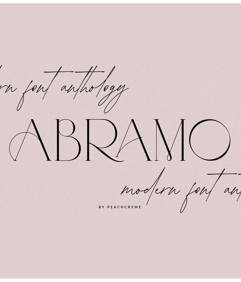 ABRAMO Modern Font