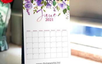 Download Calendar Mockup Free by Divine Works