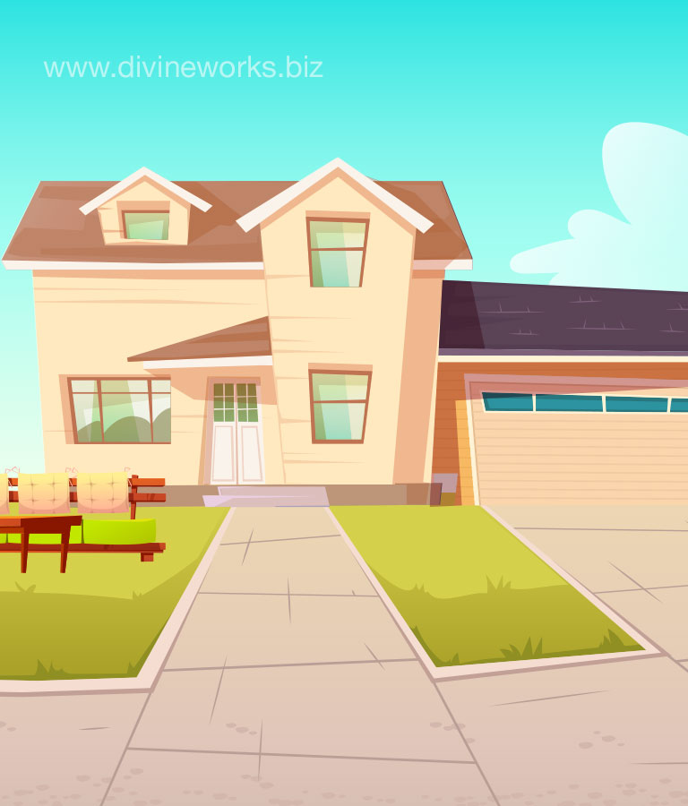 Download Free Modern House Vector Art by Divine Works