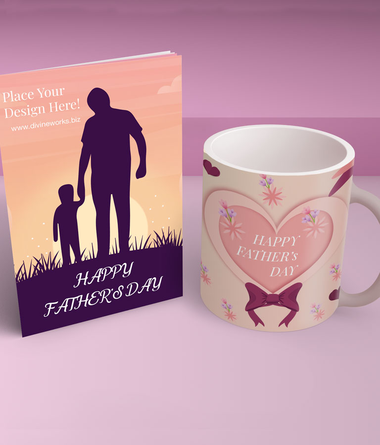 Mug & Invitation Card Mockup