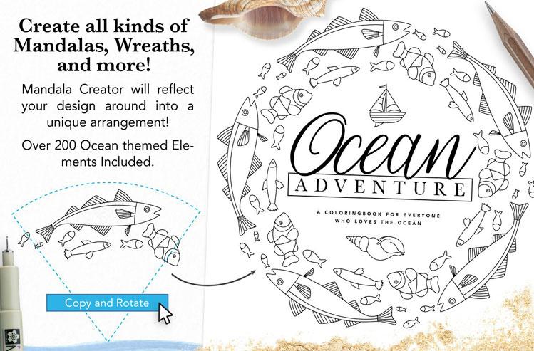 Ocean Life Mandala Creator