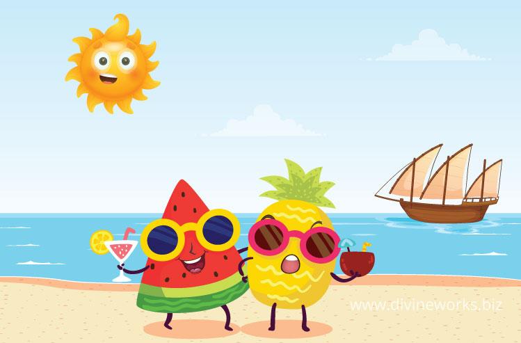 Download Free Summer Illustration by Divine Works