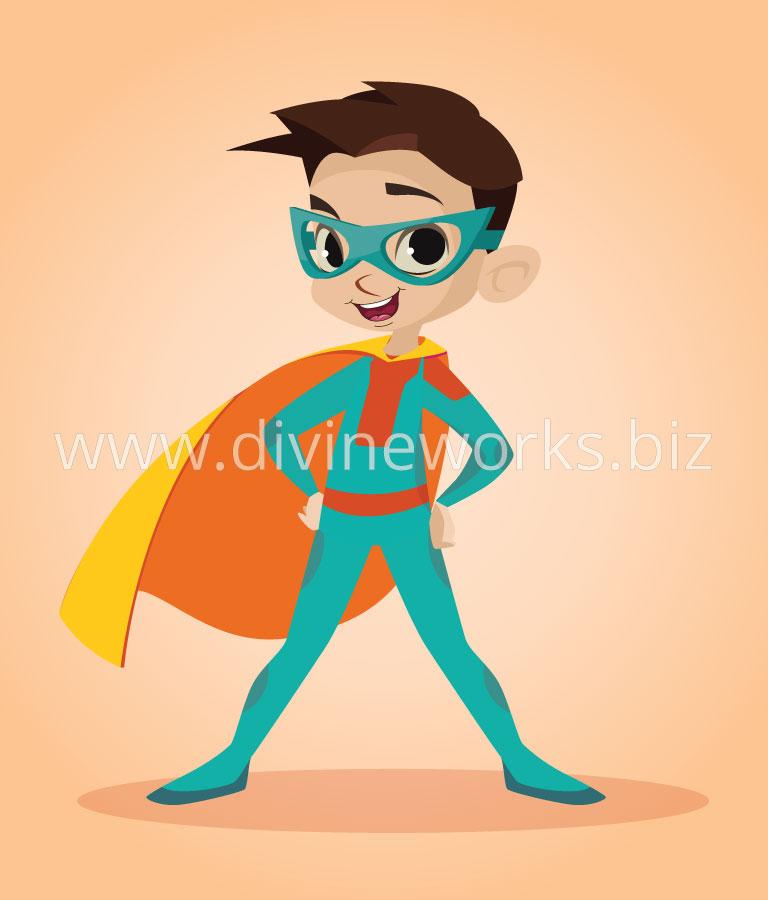 Super Kid Vector Character