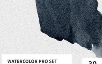 Watercolor Pro Set for Procreate
