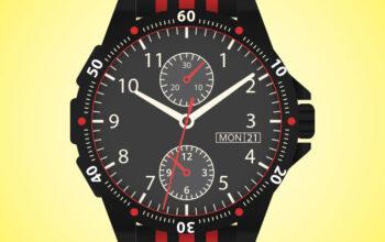 Download Free Wrist Watch Vector Art by Divine Works