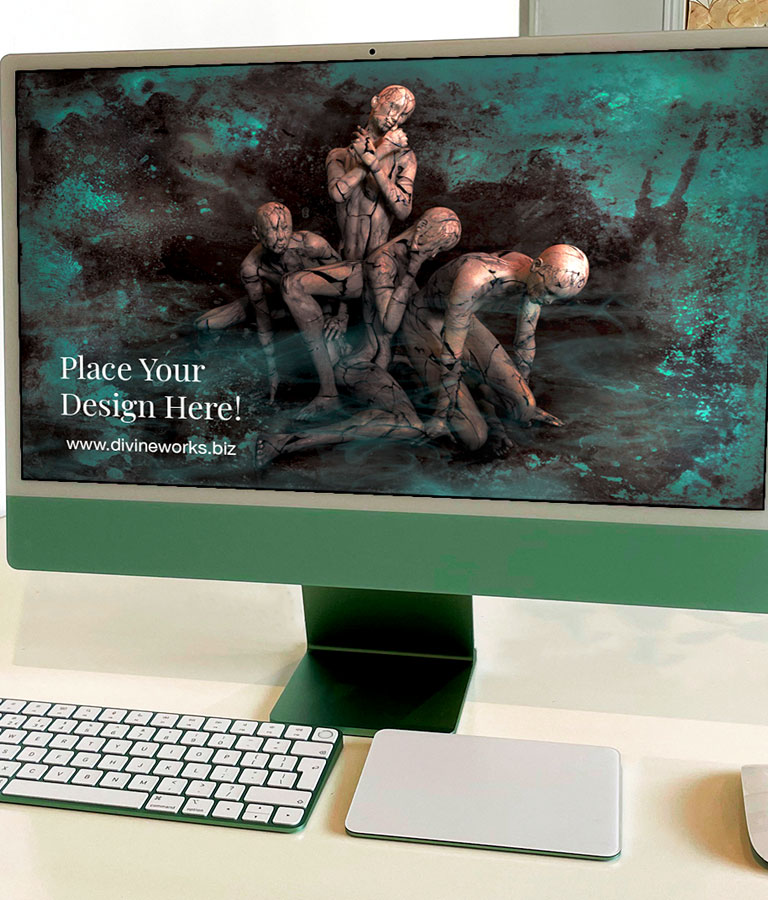 iMac 24 Inch Mockup
