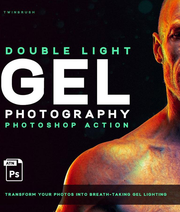 Dual lighting Gel Photoshop