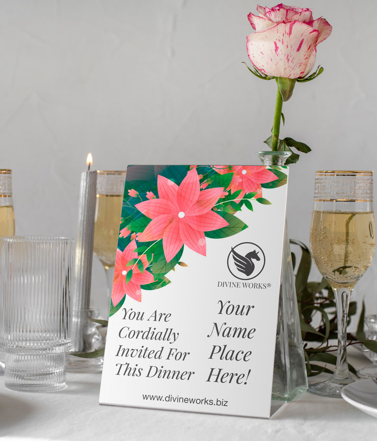 Table Tent Card Mockup