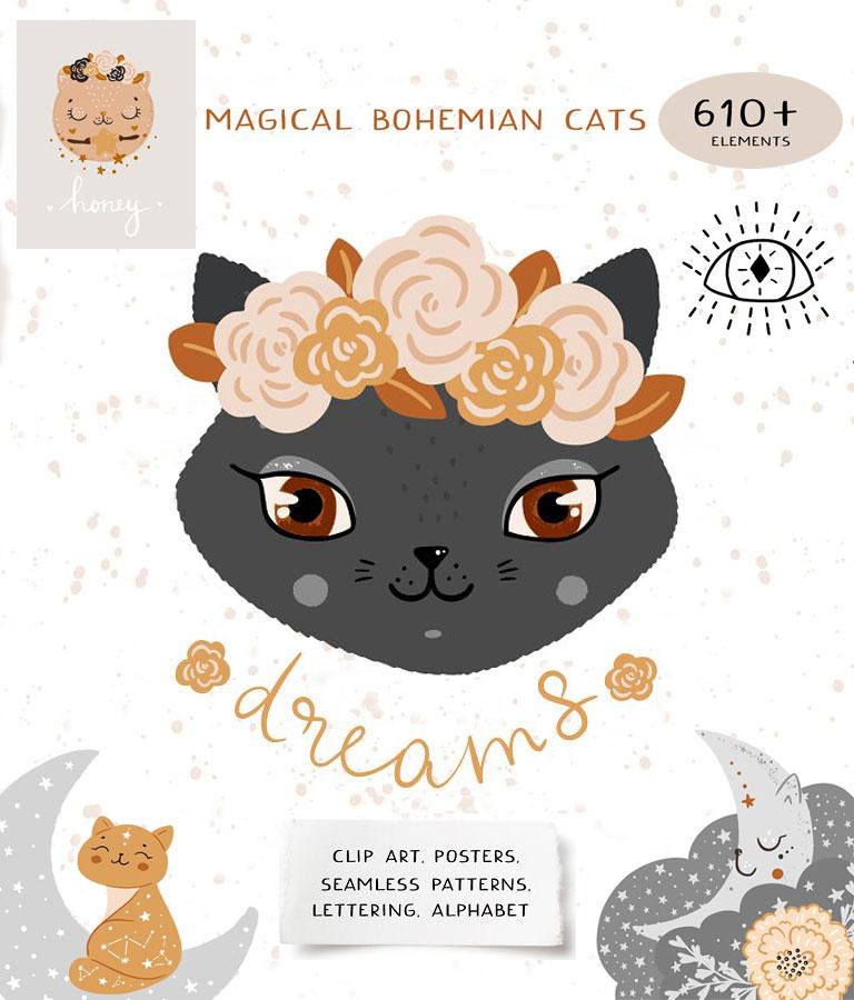 Magic Boho Baby animal Set
