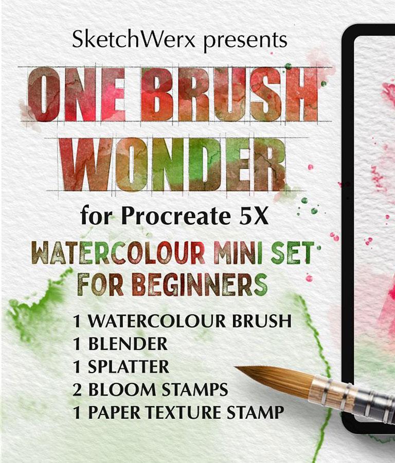 One Brush Wonder Watercolour