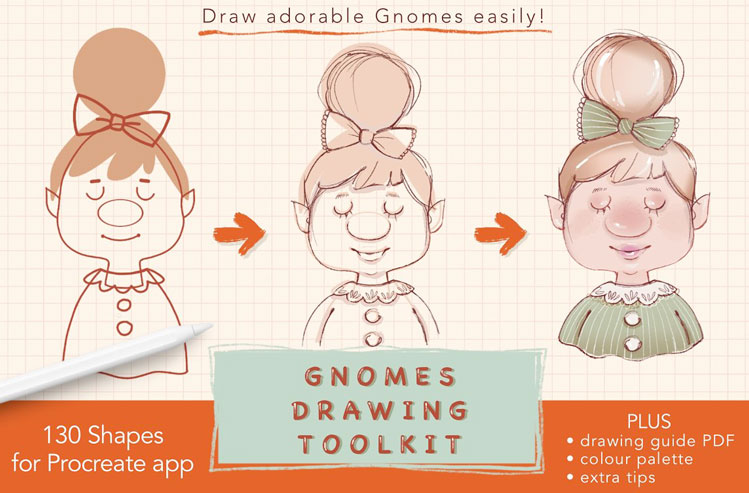Procreate Gnomes Drawing Toolkit