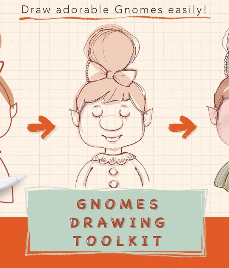 Procreate Gnomes Drawing
