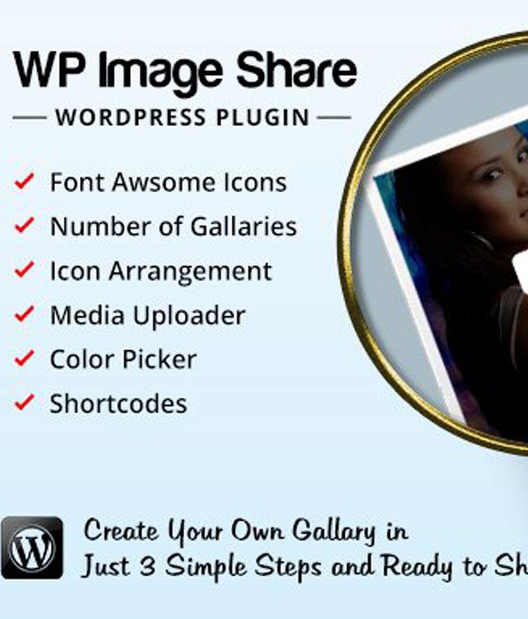 WP Image Share Plugin
