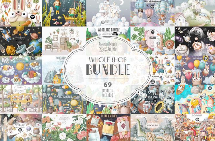 Whole shop bundle 3700+