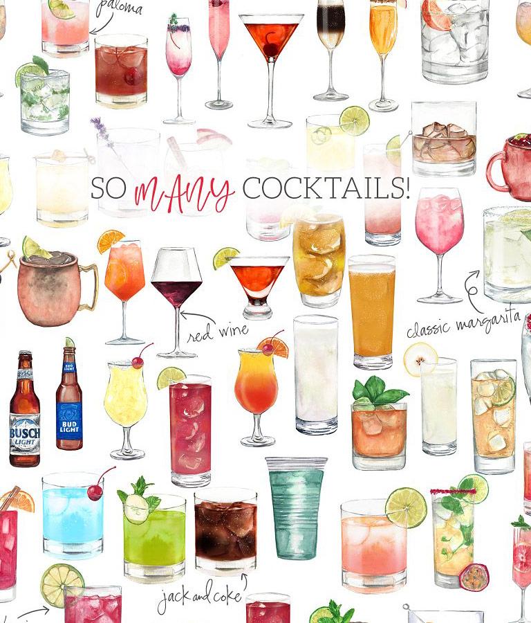 Cocktail Clipart Set
