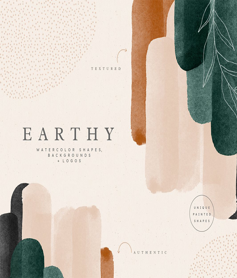 Earthy Abstract Shapes and Logos