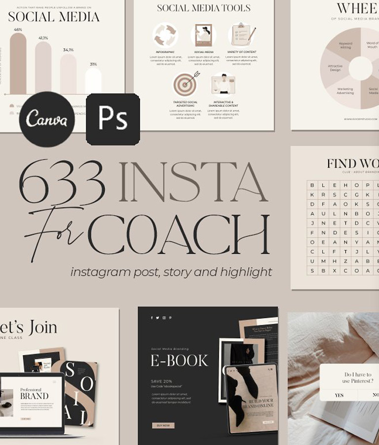 Instagram Creator For Coach CANVA PS