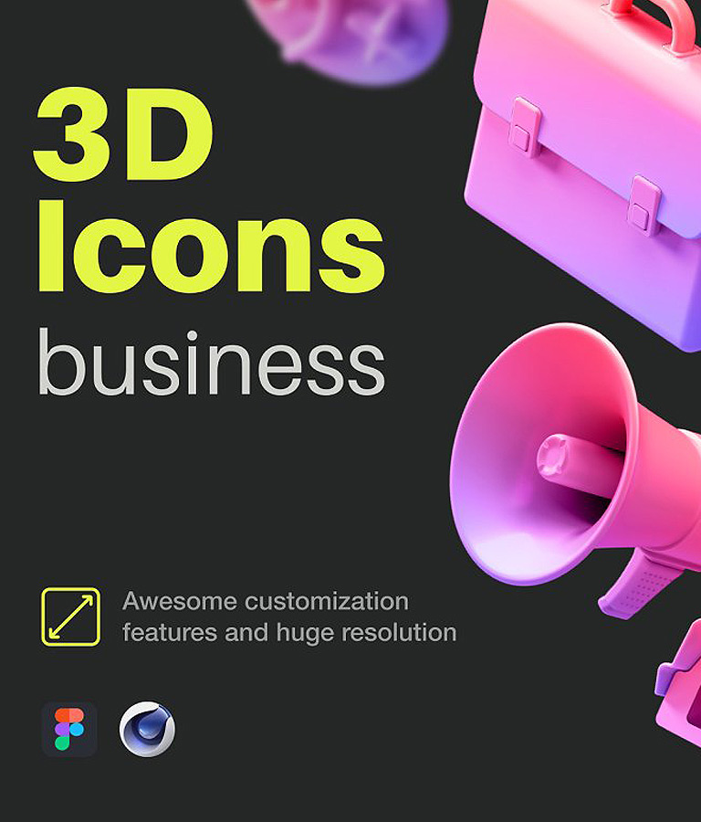 Multiangle 3D Icons
