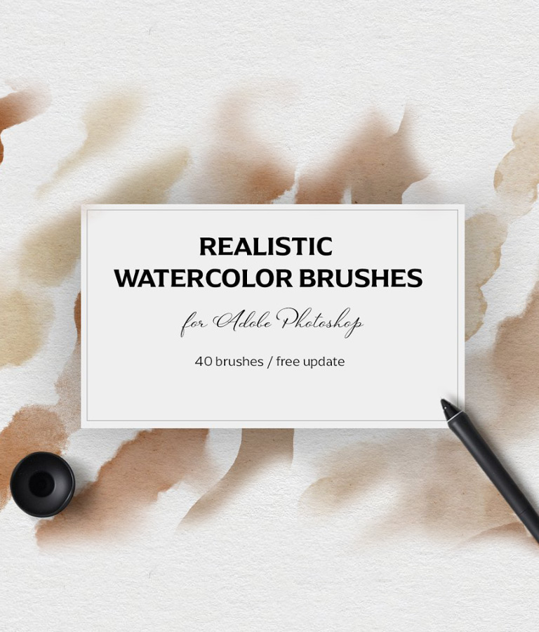 Realistic Photoshop Watercolor Brushes